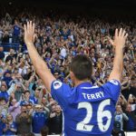 LONDON, ENGLAND - MAY 21:  John Terry of Chelsea salutes the crowd after the Premier League match between Chelsea and Sunderland at Stamford Bridge on May 21, 2017 in London, England.  (Photo by Michael Regan/Getty Images)