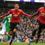 Paul Pogba (right) and Chris Smalling scored the goals in an astonishing Manchester United fightback