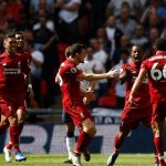 Georginio Wijnaldum of Liverpool celebrates scoring their first goal