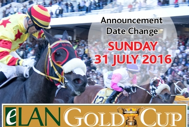 Announcement: eLan Gold Cup postponed to Sunday